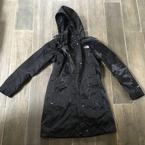 North face long rain coat